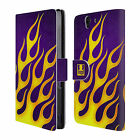 HEAD CASE DESIGNS FLAME DECALS LEATHER BOOK WALLET CASE COVER FOR SONY XPERIA Z günstig