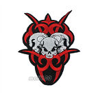 Triple Skull Fire Embroidered Sewing Iron on Patch Badge Patches Sewing Applique