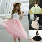 Fashion Women Girls Tutu Princess Skirt Petticoat Knee-Length Mini Dress 4 color