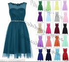 STOCK New Tulle Short Hot Prom Party Bridesmaid Wedding Evening Dress Size 6-22