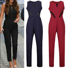 Women Ladies Sleeveless Bodycon Dress Playsuit Jumpsuit Romper Trousers Clubwear