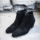 ByTheR Men's Modern Classic Soft Black Shammy Leather Ankle Boots Dress Shoes