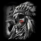 NEU Biker Chopper Fantasy Gothic T-Shirt  Indianer Chief Skull M - 6XL