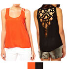 Sexy Hollow Out Women's U-Neck Backless Blouse Sleeveless T-shirt Tops