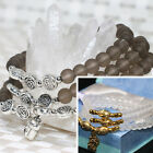 6mm round beads white gray frosted matte crystal multilayer bracelet jewelsB2247