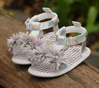 Infant Toddler Baby Girl 3D Flower Sandals Crib Shoes Size 0-6 6-12 12-18 Months