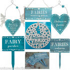 Fairy Garden Home Plaque Rustic Wood Fairies Hanging Decoration Shabby Chic Gift