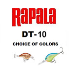 RAPALA ( DIVES TO ) DT-10, REGULAR & IKE'S MODELS, CHOICE OF COLORS