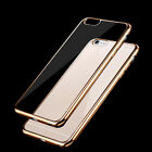 For iPhone 5/5S/5SE New Electroplating TPU Transparent Clear Bumper Cover G1