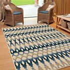 RUGS AREA RUGS INDOOR OUTDOOR RUGS OUTDOOR CARPET BLUE IVORY GEOMETRIC COOL RUGS