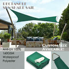 Alion Home© Terylene Waterproof Sun Shade Sail - Forest Green 8 Sizes
