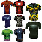 New Women Men's Super Hero Elasticity 3D Print Short Sleeve Casual T-shirt