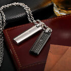 AgentX Simple Bible & Cross Bar Pendant Stainless Steel Men's Necklace Chain