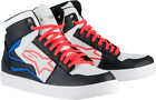 Alpinestars Mens Black/White/Red/Blue Stadium Road Riding Motorcycle Shoes