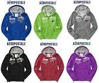 NWT AEROPOSTALE SWEATSHIRT M & L ZIP UP HOODIE JACKET BLUE,BURGUNDY,GREEN NEW