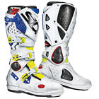 NEW SIDI CROSSFIRE 2 SRS MX DIRTBIKE OFFROAD BOOTS YELLOW/WHITE/BLUE ALL SIZES