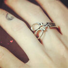 1Pc Women Fashion Chic Stylish Scissors Shape Finger Ring Jewelry 16/17mm