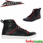 RST URBAN2 SNEAKER BOOTS WHITE SOLE CASUAL REINFORCED BLACK RED TOUR ROAD LACEUP