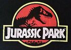 New Mens Jurassic Park Classic Logo Short Sleeve Black T-Shirt. M - XL Sizes Tee