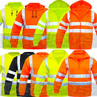HI VIZ HI VIS HIGH VISIBILITY JACKET HOODIE HOODY HOODED SWEAT SHIRT FLEECE SIZE