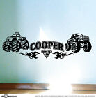 MONSTER TRUCK & Flames Boys Bedroom Car Vinyl Wall Stickers Boy Art Decals