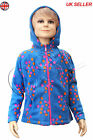 GIRL'S blue full-zip hoodie micro fleece jacket,/cardigen/top 5-12 years G-10
