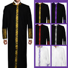 Cadillac Clergy Preacher Robe Royalty Cross Embroidery Full Length