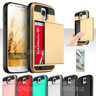 For Samsung Galaxy S3 S4 S5 Card Wallet Pocket ShockProof Slim Rugged Case Cover