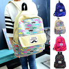 NEW fashion Canvas Travel Mustache Backpack Rucksack School Bags Satchel