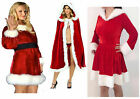 Ladies Sexy Miss Santa Christmas Outfit Claus Party Fancy Dress Costume snowman