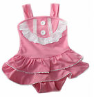 Kids Girls PINK LADY Swimsuit Swimming Costume Age 2 3 4 5 6 7 One Piece
