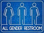 All Gender Restroom Tin Sign 40.7x30.5cm