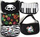 peace sign keyboard - Piano Keyboards Skull Roses Peace Sign Knuckle Adjustable Strap Handbag Purse