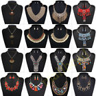 Vintage Jewelry Pendant Chain Crystal Statement Bib Women Necklace Choker Chunky