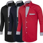 New Men's Long Sleeve Casual Slim Fit Luxury Stylish Dress Shirts Formal Shirts
