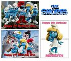 THE SMURFS or SMURFETTE EDIBLE CAKE or CUPCAKE TOPPERS Icing or Wafer