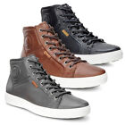 ECCO SOFT 7 MID MEN'S SHOES LEATHER HIGH TOP TRAINERS XPEDITION BIOM VII II