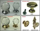 Clear Crystal Glass Cupboard Knobs & Handles Chrome Antique Brass Kitchen