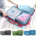 New 6Pcs Clothes Storage Bags Packing Travel Luggage Organizer Seal Pouch Bag DZ