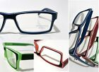 contemporary READING GLASSES modern design WHITE STRIPE powers 1.25 1.50 1.75