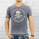 Smith and Jones Männer T-Shirt Oculuse vintage blau Herren Mens Tee blue heather