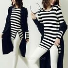 Fashion Womens Ladies Long Sleeve Stripe Casual Blouse Loose Cotton Tops T Shirt