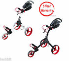 Big MAX IQ+ Lightweight 3 Wheels Golf Trolley - Black and White Available