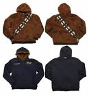 Reversible Chewbacca Hoodie Jacket Hans Solo Parka Star Wars Faux Fur Mens Heavy