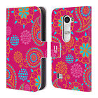 HEAD CASE DESIGNS PSYCHEDELIC PAISLEY LEATHER BOOK WALLET CASE COVER FOR LG LEON