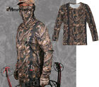 Tacitcal Camouflage Long Sleeve T-Shirt Clothes for Hunting Paintball M-XXL A