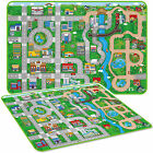 Giant Kids City Playmat Fun Town Cars Play Road Carpet Rug EVA Foam Toy Mat NEW