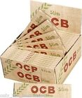 Genuine OCB ORGANIC HEMP Natural King Size Slim Rolling Papers 50 FULL BOX