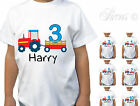 PERSONALISED TRACTOR AGE BIRTHDAY CHILDRENS KIDS T-SHIRT TSHIRT BOYS FUN
