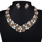 Sexy Women bride Alloy Choker Collar Charm Chain Choker Bib Statement Necklace